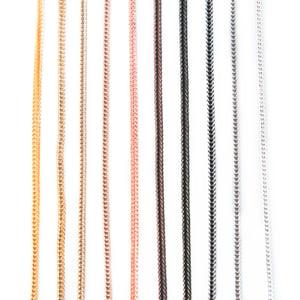 Image of Triple Gourmette 10 rangs carrés d'été ou collier