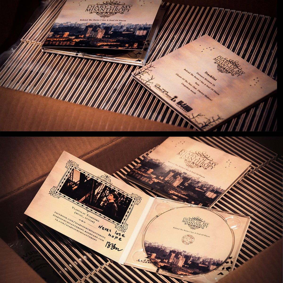 "Image of EP ""Behind the Ruins I Sea a Soul of Places"" 4-panel DIGIPAK"