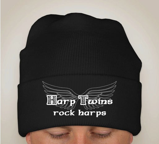Image of Harp Twins rock harps KNIT HAT