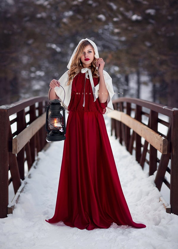 Image of Snow Queen Velvet Bridal cape