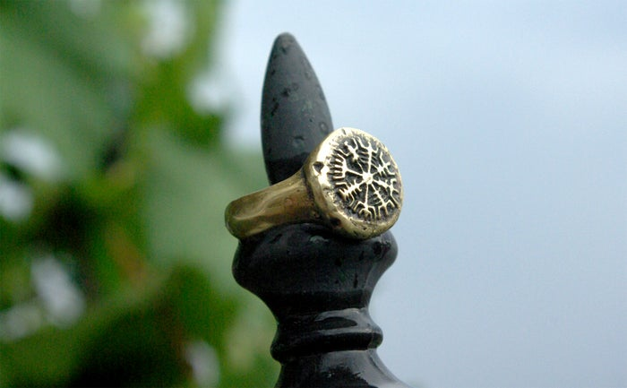 VEGVISIR RING :: VIKING COMPASS :: VIKING RING