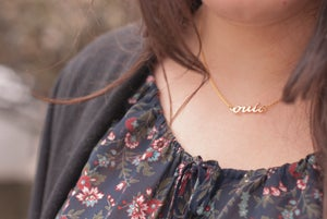 Image of Collar Delicate OUI