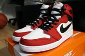 Image of DS AJ 1 Retro AJKO Wht/Blk/Red sz 9