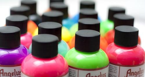 Image of 12er Set Angelus Acrylic Farbe 29.5ml / 12x 1oz bottles Acrylic Paint