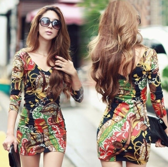 "Image of V-Neck ""TIMELESS"" BodyCon dress"