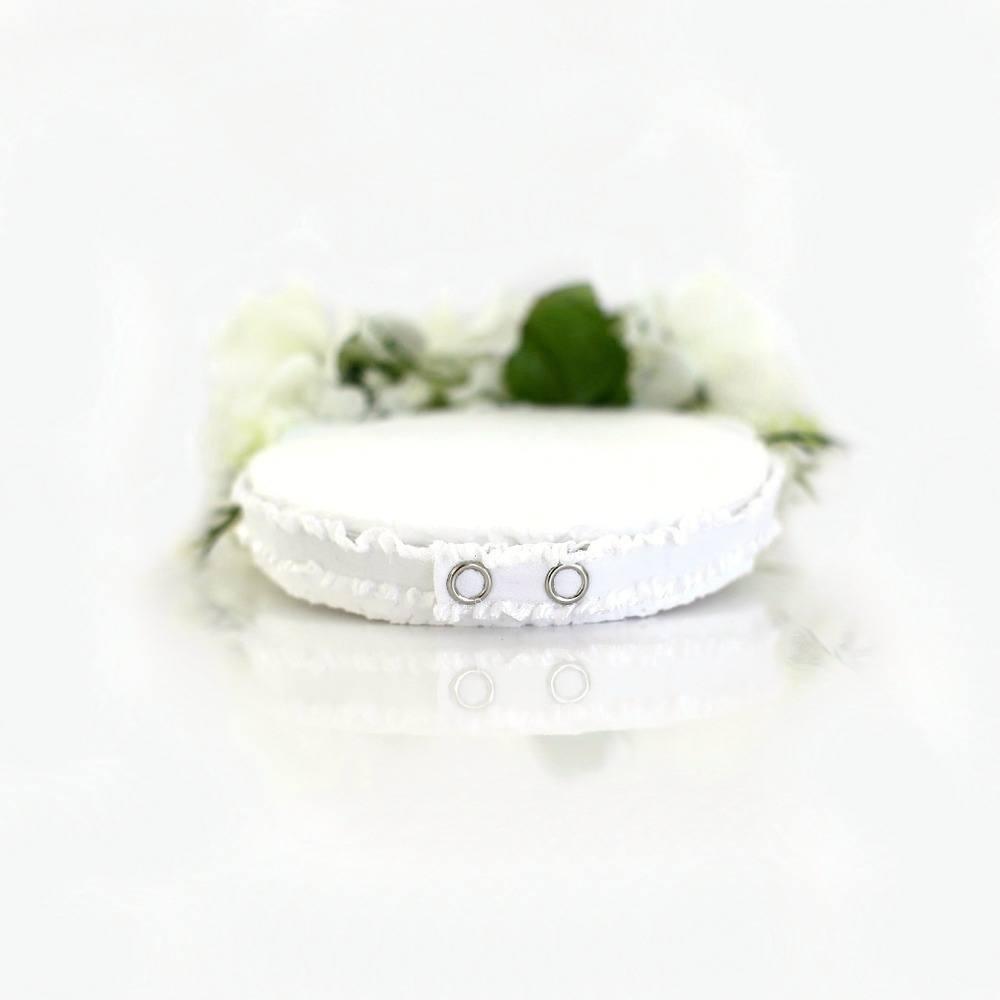 Snow White Flower Crown Classic Timeless Handmade Flower Crowns