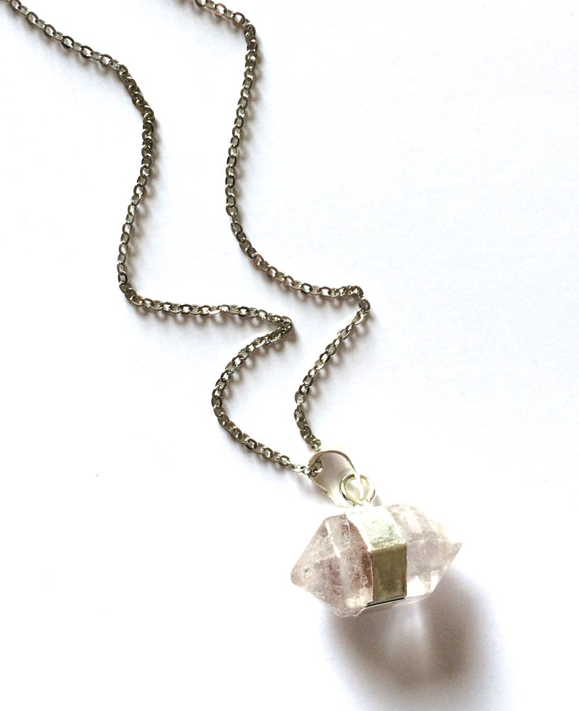Image of Kool Jewels Clear Precious Stone Pendant