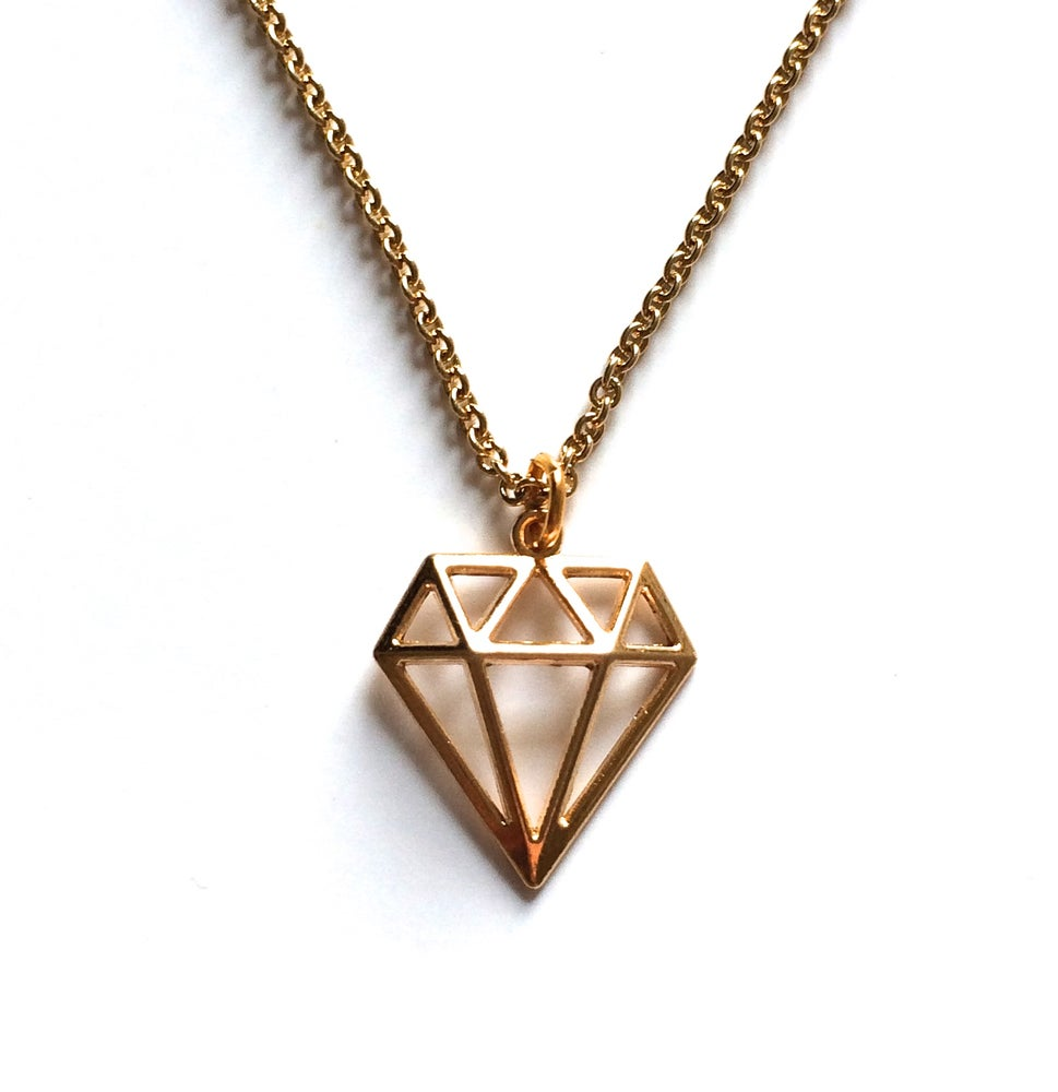 Image of Kool Jewels Diamond Cut Out Necklace