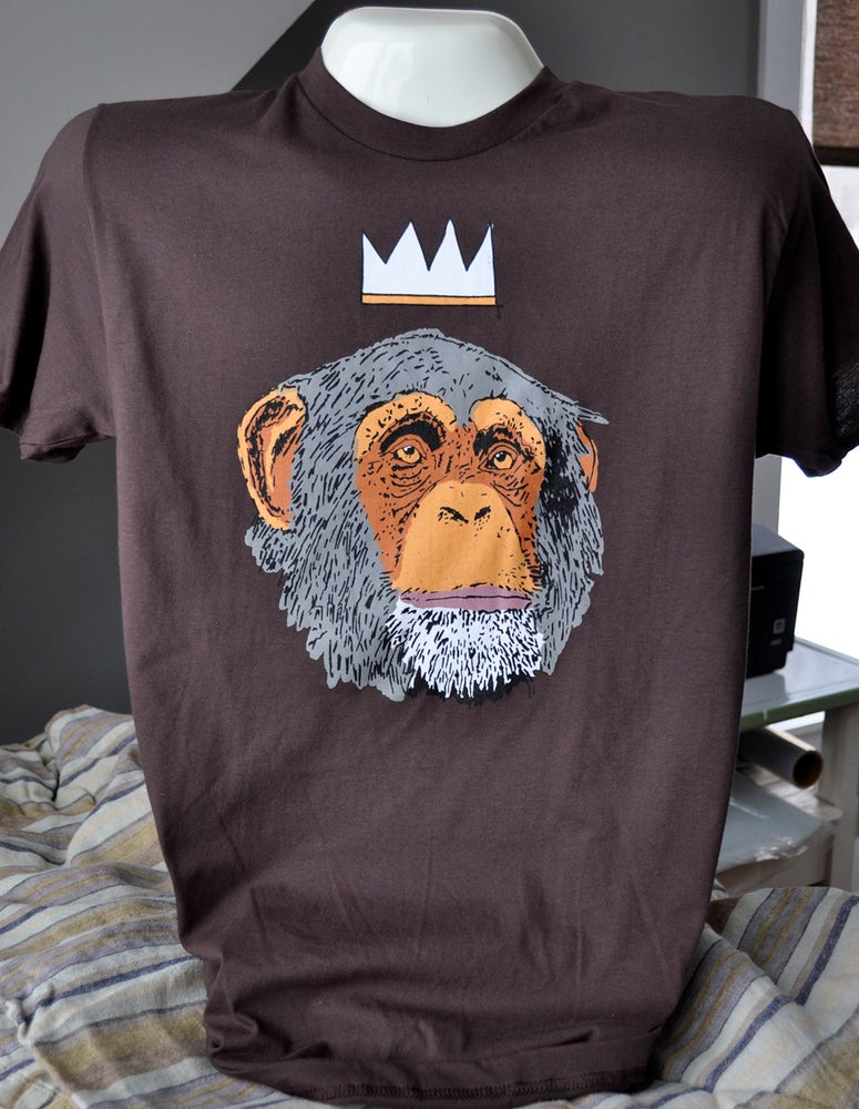 Image of Monkey Business T - Chimp Wearing Crown
