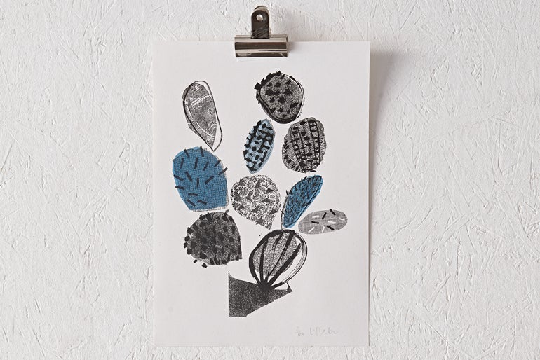 Image of 'Cactus' Riso Print