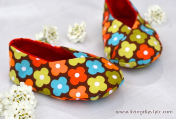 Image of Kawaii Kimono Baby Shoe Sewing Pattern