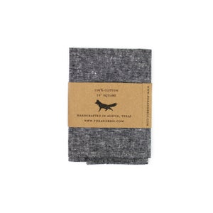 Image of Charcoal Chambray Pocket Square