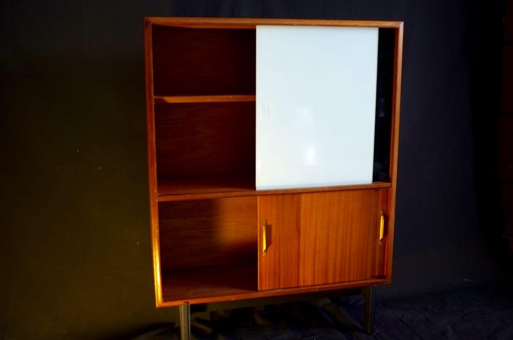 Image of Superb Vintage Mid-Century Teak Cabinet