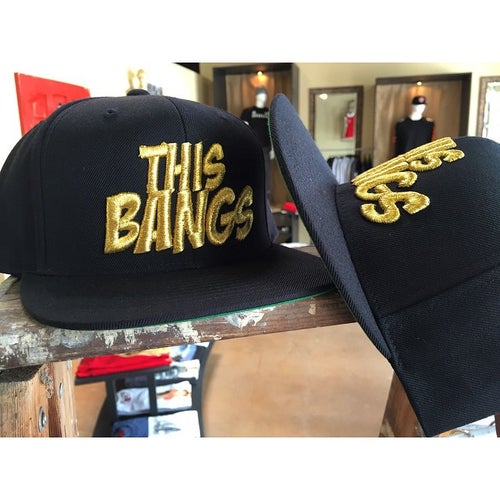 Image of This Bangs Logo SnapBack (Black & Gold)