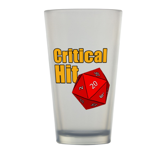 Image of Critical Hit Pint Glass