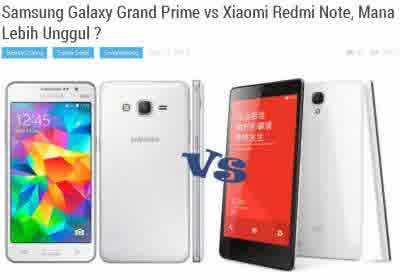 Image of Harga Samsung Galaxy Grand Prime vs Xiaomi Redmi Note