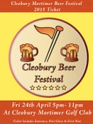 Image of Cleobury Beer Festival Ticket - Friday 24/04/15
