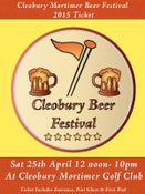 Image of Cleobury Beer Festival Ticket - Saturday 25/04/15