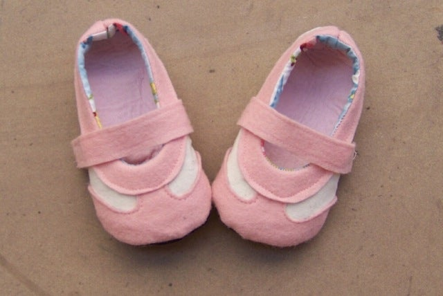Image of Retro Baby Sneakers Sewing Pattern