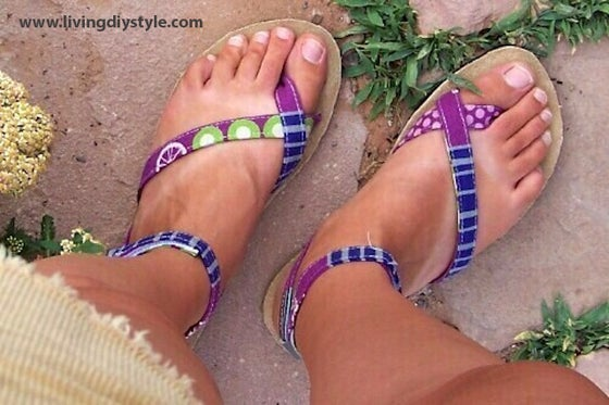 Image of Bahama Sandals Tutorial and Sewing Pattern