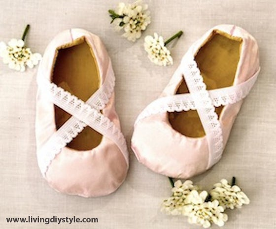 Image of Baby Ballet Flats Sewing Pattern