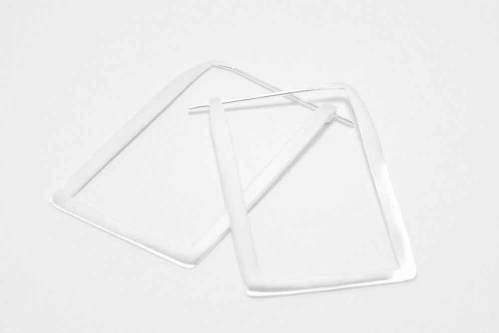Image of Fine Rectangle hoops