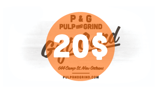 Image of Pulp & Grind Gift Card / 20.00