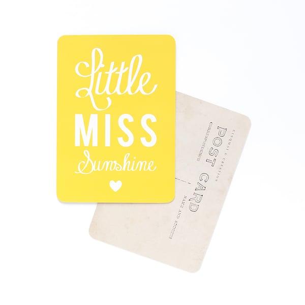 Image of Carte Postale LITTLE MISS SUNSHINE / CITRON