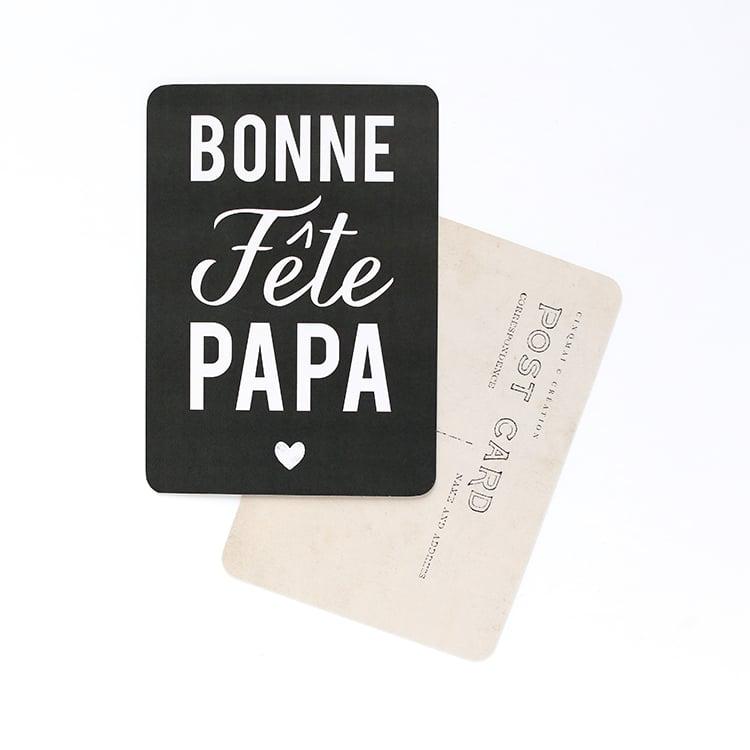 Image of Carte Postale BONNE FÊTE PAPA / ARDOISE