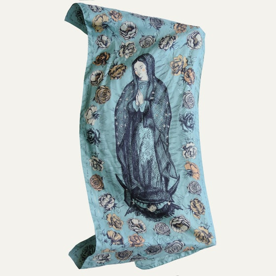 Image of Virgen de Guadalupe silk scarf