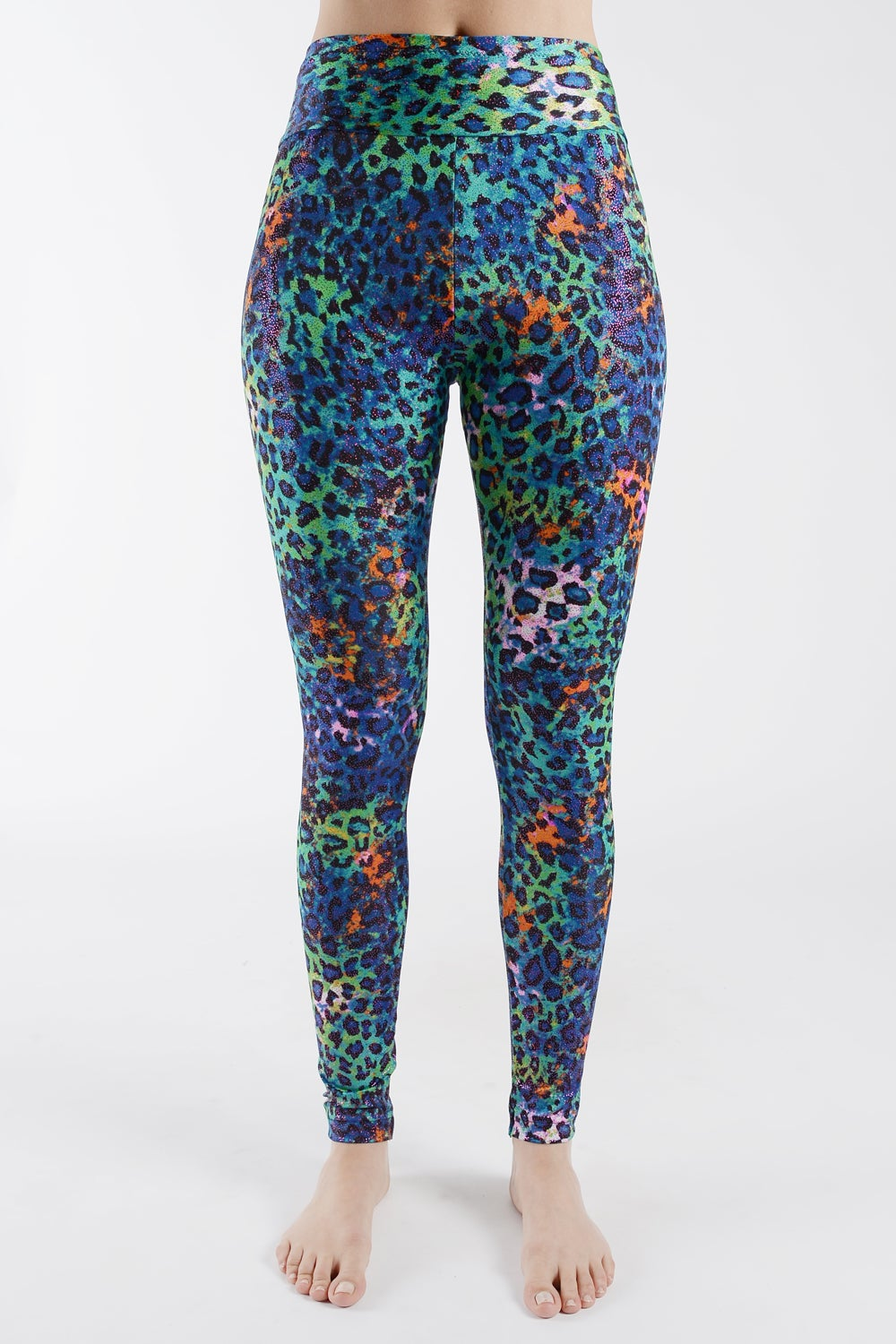 Image of Marine Leopard Print High Waisted Leggings