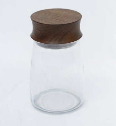 Image of Walnut heavy lid jar 20 oz.