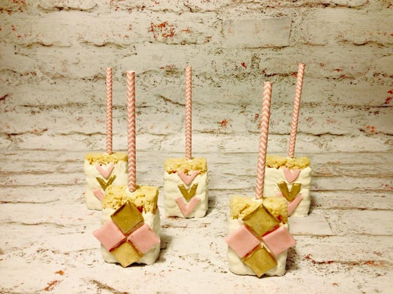 Image of anthropologie inspired rice krispy treats