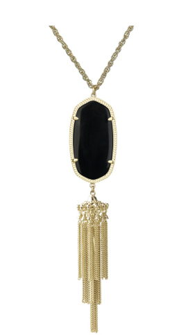 Image of Bohemian Tassel Pendant Necklace :: Black