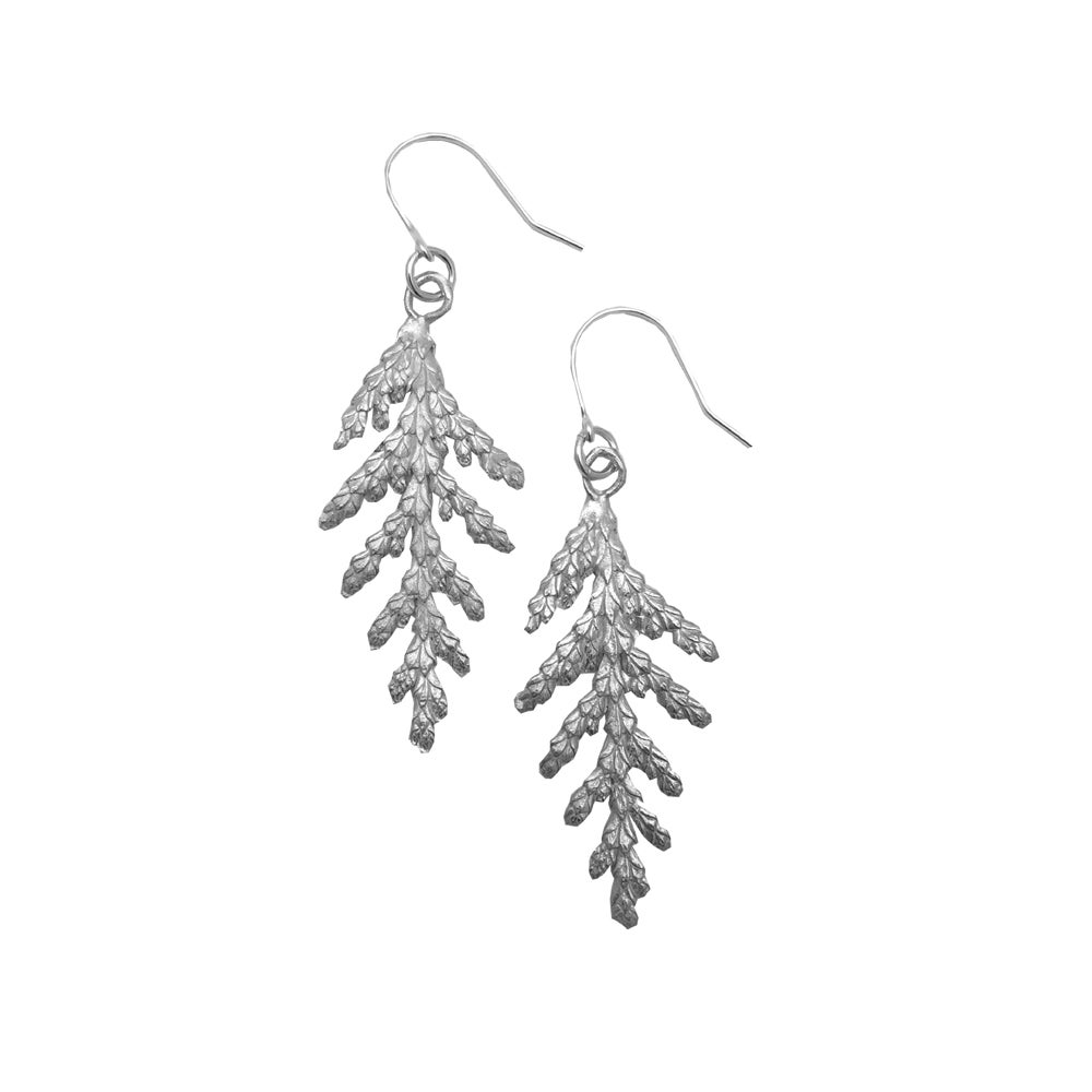 Image of Cedar Earrings 3D Small