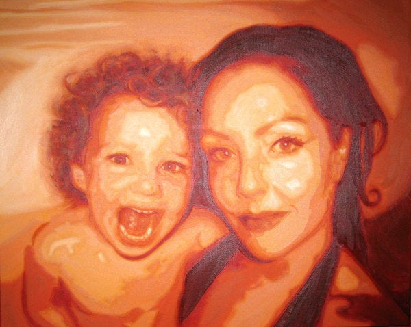 Image of Painting 'Me & my baby' - ARTIST'S COLLECTION