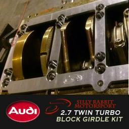 Image of SRM - Audi 2.7TT Billet STEEL Block Girdle Kit
