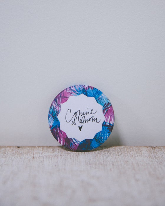 Image of Badge Copine d'amour Jungle