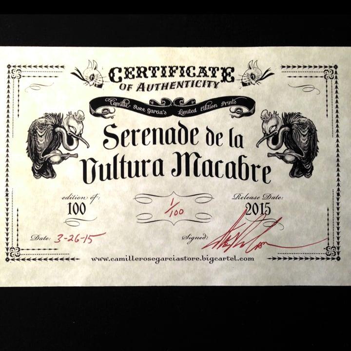 "Image of ""Serenade de la Vultura Macabre"" Mini print"