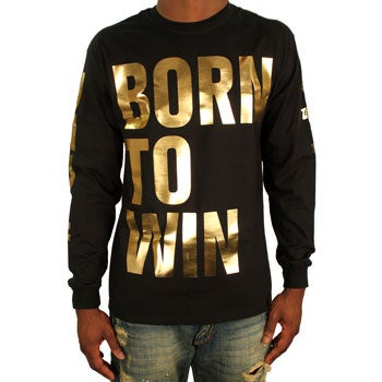 Image of Born to Win LS (Black/Gold)