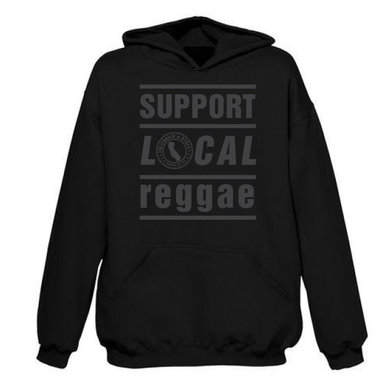 Image of ***RESTOCKED*** Support Local Reggae Blackout Hoodie
