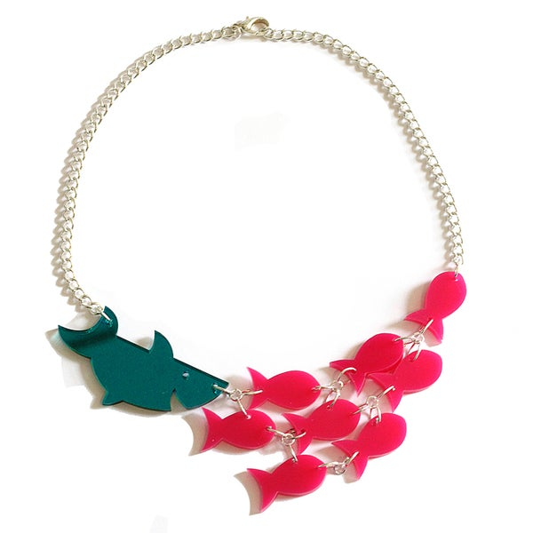 Image of Sharks and Fishes Statement Necklace - PRE-ORDER