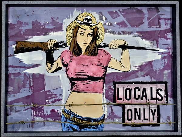 Image of Locals Only - Shotgun Girl with Barbed Wire