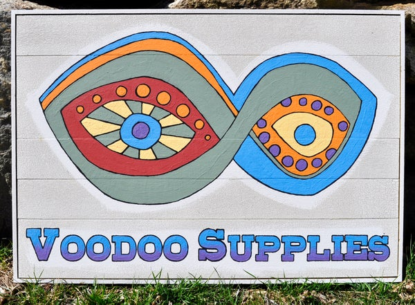 Image of Voodoo Supplies Weathered Old Sign