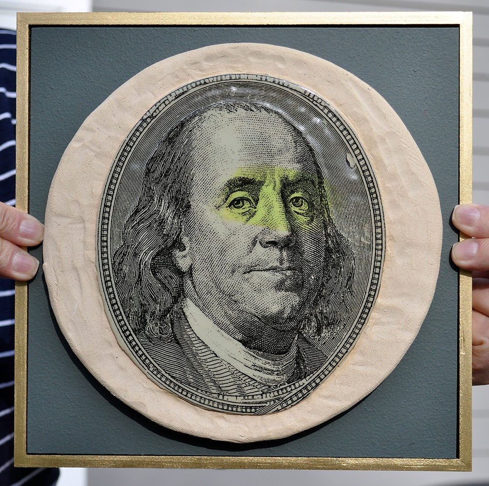 Next Prev Image Of Handmade Stoneware Ceramic Tile Money Magnet