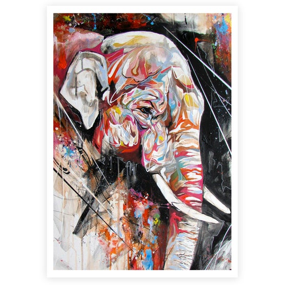 "Image of ""Indian Elephant"" OPEN EDITION PRINT ON FINE ART PAPER Free Worldwide Shipping"