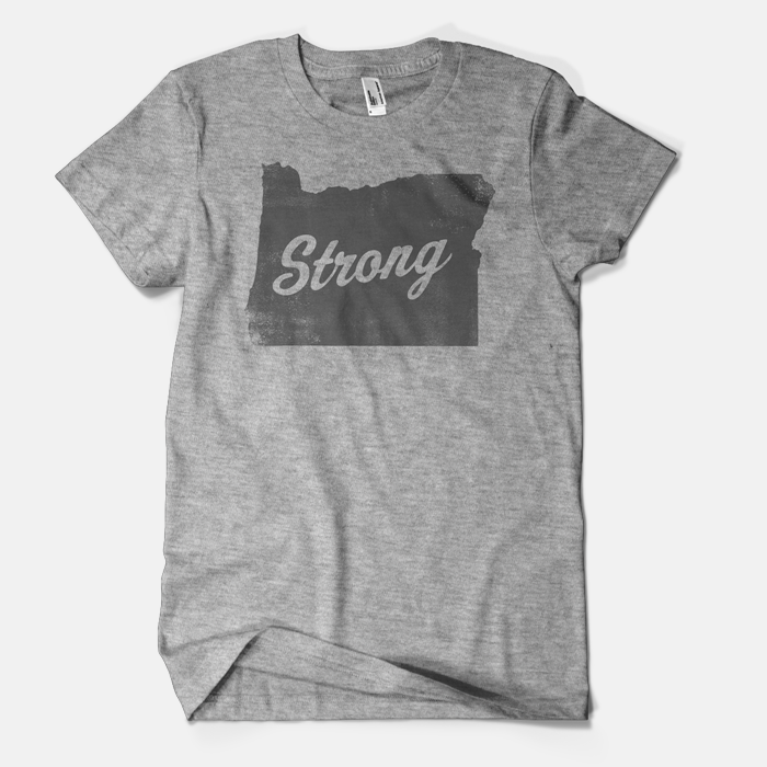Image of Oregon Strong Logo Tee (gray ink)