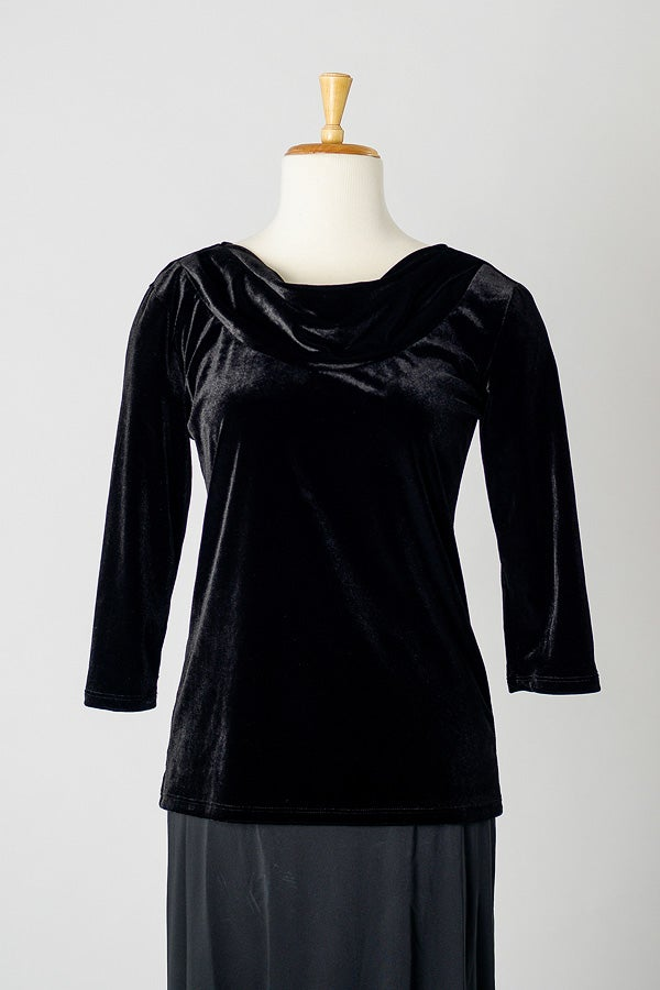Image of Velvet Cowl Top
