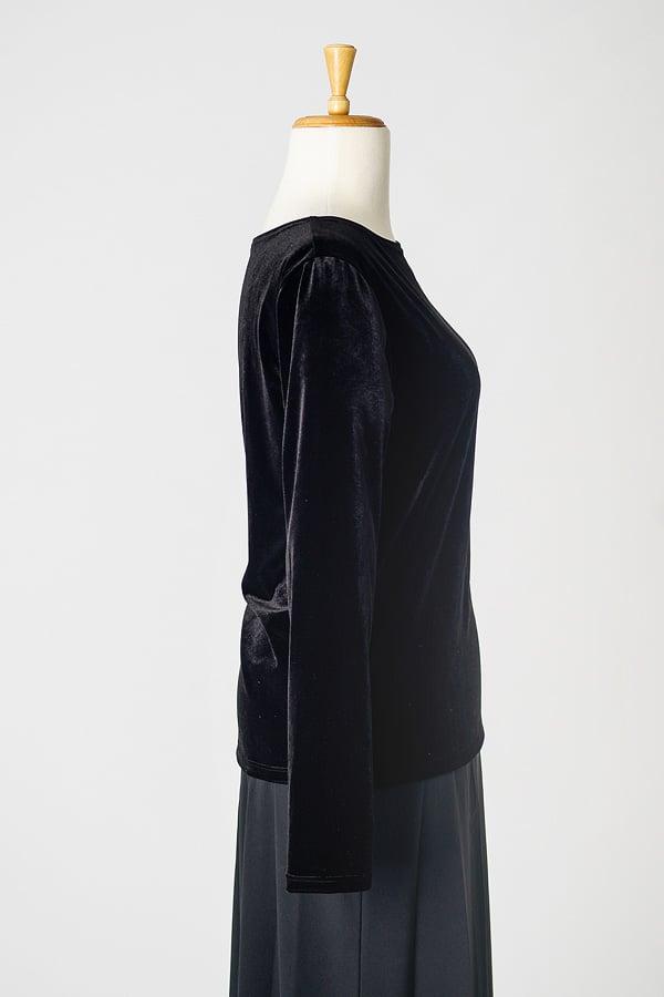 Image of Velvet Round Neck Top (Long)