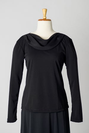 Image of Long Sleeve Cowl Top